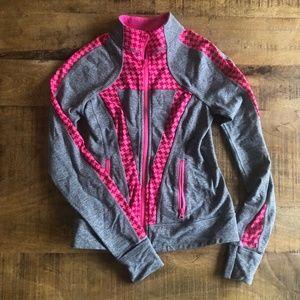 Ivivva by lululemon Gray Pink Zip Jacket, size 10